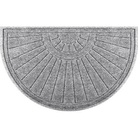 Half Round Sunburst - Aqua Shield 20260572439 24 x 39 in. Sunburst Half Round Doormat - Medium Gray