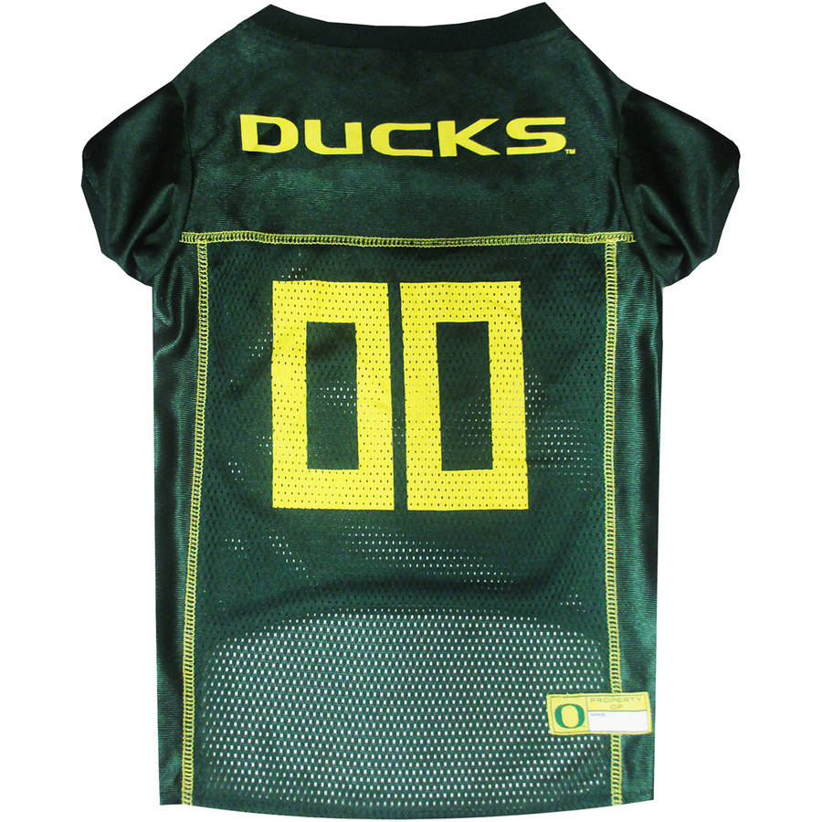 Pets First College Oregon Ducks Collegiate Dog Jersey, Available in Various Sizes
