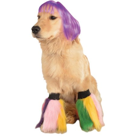 Purple Bob Wig Go Go Dancer Pet Dog Costume Accessory](Purple Bob)