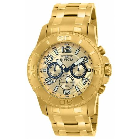 Men's 15022 Pro Diver Quartz Chronograph Champagne Dial Watch