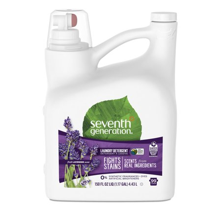Seventh Generation Liquid Laundry Detergent, Fresh Lavender, 99 Loads, 150 oz (7th Generation Size 1)