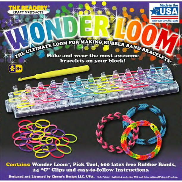 The Beadery Wonder Loom Kit Gift For Kids Includes 600 Rubber Bands Walmart Com Walmart Com