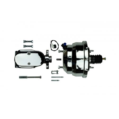 Hydraulic Motor Brake (Right Stuff J853151 Chrome Dual Brake Booster and Master Cylinder)