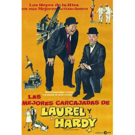 Pop Culture Graphics MOV201960 The Best of Laurel & Hardy Movie Poster, 11 x