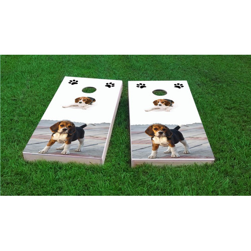 Custom Cornhole Boards Beagle Lovers Light Weight Cornhole Game Set by Custom Cornhole Boards