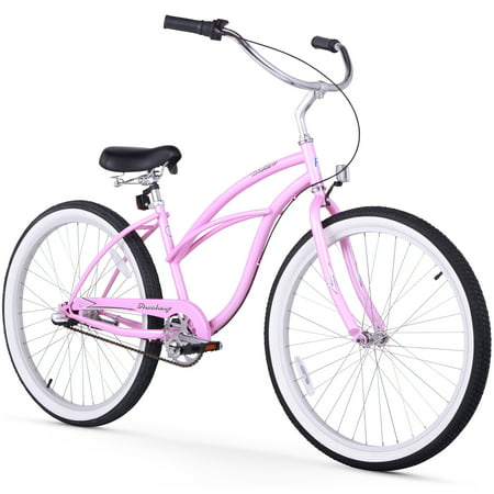 24 firmstrong urban lady three speed women 39 s beach cruiser bike pink. Black Bedroom Furniture Sets. Home Design Ideas