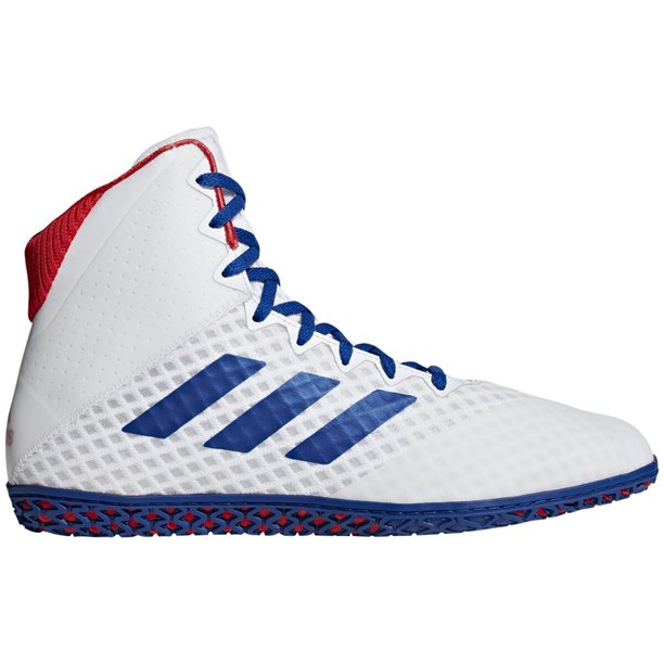 Adidas Mat Wizard 4 Adult Wrestling Shoes Bc0533 White Blue Red Walmart Com Walmart Com