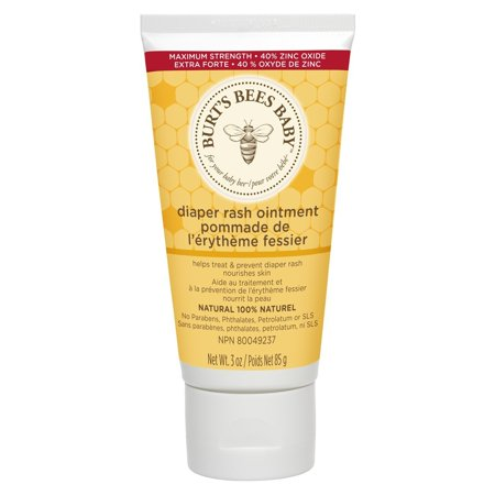 Burt's Bees Baby Bee 100% Natural Diaper Rash Ointment, 3 Ounces, 3 ounce tube of 100% natural diaper rash ointment By Burts Bees 100% new product  Burt's Bees Baby Bee 100% Natural Diaper Rash Ointment has protecting properties to treat and prevent diaper rash. It's 100% natural with 40% zinc oxide, the maximum strength needed to seal out moisture that can irritate your baby's bottom. This diaper rash ointment nourishes and reconditions skin naturally with shea butter, lavender oil and jojoba seed oil while creating an emollient layer to absorb wetness leaving baby's skin soft, dry, and smooth. Pediatrician-tested and safe for your baby's delicate skin. This ointment is formulated with no parabens, phthalates, petrolatum or SLS and is not tested on animals. Nurture and protect your baby's skin naturally with Burt's Bees Baby Bee. We guarantee the satisfaction of our products through high quality and service, low prices, and fast, safe shipping.