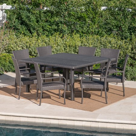 Noble House Brett 9 Piece Outdoor Dining Set