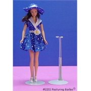 Metal Doll Stand For Barbie And Dolls 11.5 To 12.5 Inches Tall (fits around dolls waist line)