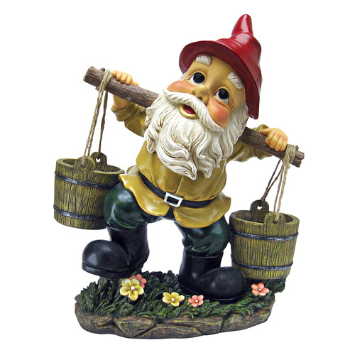 Barney Two Buckets Garden Gnome Statue by Design Toscano