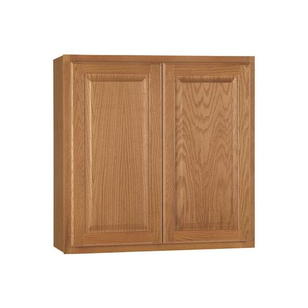 Rsi Home Products Hamilton Kitchen Wall Cabinet Fully Assembled Raised Panel Oak 30x30x12 In 2478232 Walmart Com Walmart Com