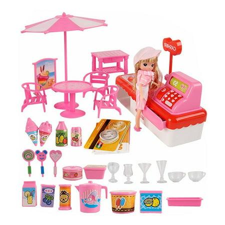 Kids Toy Set Mini Cash Registers, Pretend Play Ice Cream Shop - Shop Kids Toys