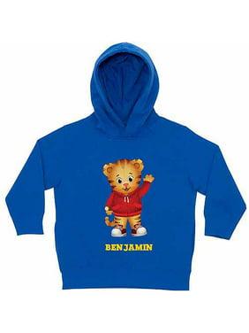 Personalized Daniel Tiger's Neighborhood Hello Daniel Toddler Boy Royal Blue Hoodie