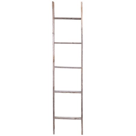 Union Rustic Rustic Wood 5 ft Blanket  Ladder