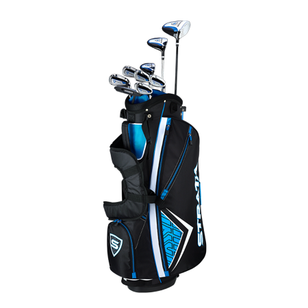 - Callaway Men's Strata '19 Complete 12-Piece Steel Golf Club Set with Bag, Right Handed