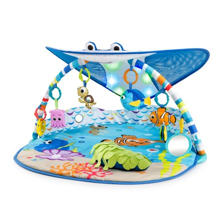 Disney Baby Finding Nemo Mr. Ray Ocean Lights & Music Activity Gym and Play Mat ()