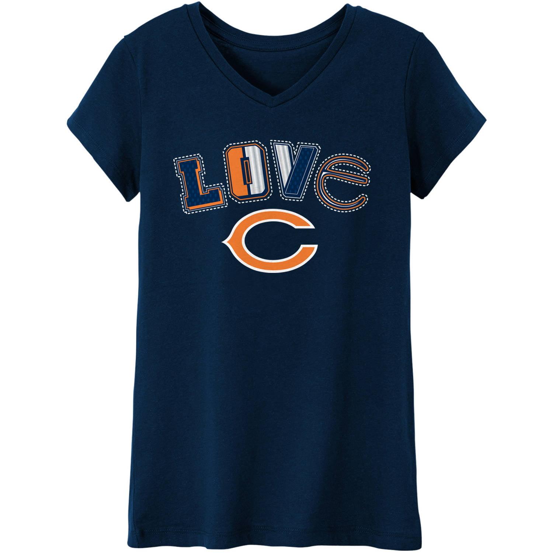 NFL Chicago Bears Girls Short Sleeve Cotton Tee