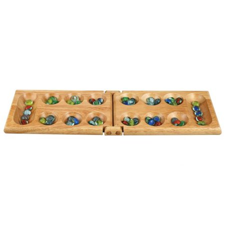 Mancala Board Game by Best Chess Set - Solid Wood High Quality Ideal for
