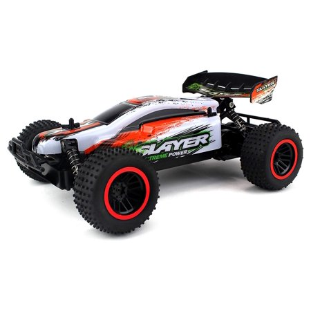 RC Remote Control Baja Slayer Xtreme Power Buggy Car 2.4 GHz PRO System 1:12 Scale Size RTR w/ Working Suspension, Spring Shock Absorbers (Colors May Vary) (Wolf Pro Remote Control Car)