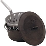 Camp Chef 3-Piece Pre-Seasoned Cast Iron Pot With Fry Basket