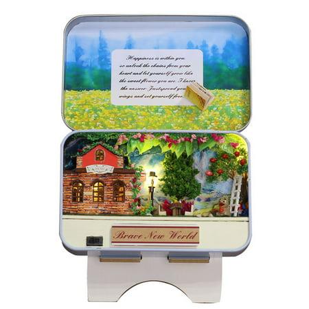 3D Handmade Wood DIY Box Theater Dollhouse Miniature Cute Mini Home Assemble Kits Gift Toys for Children