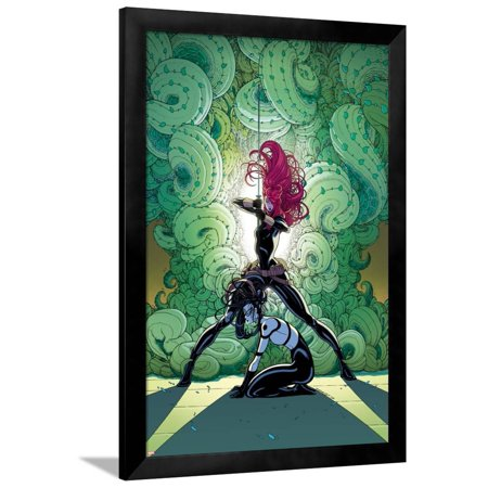 Black Widow Secret (Secret Avengers No. 12 Cover, Featuring: Black Widow, Lady Bullseye Framed Print Wall Art By Tradd)