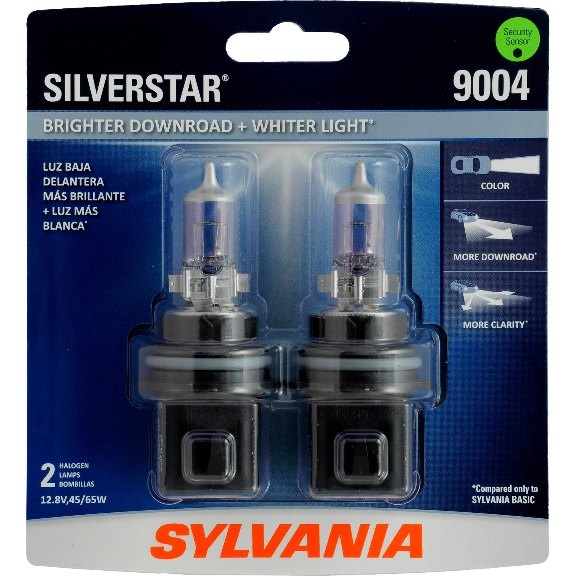Sylvania 9004 SilverStar Headlight, Twin Pack