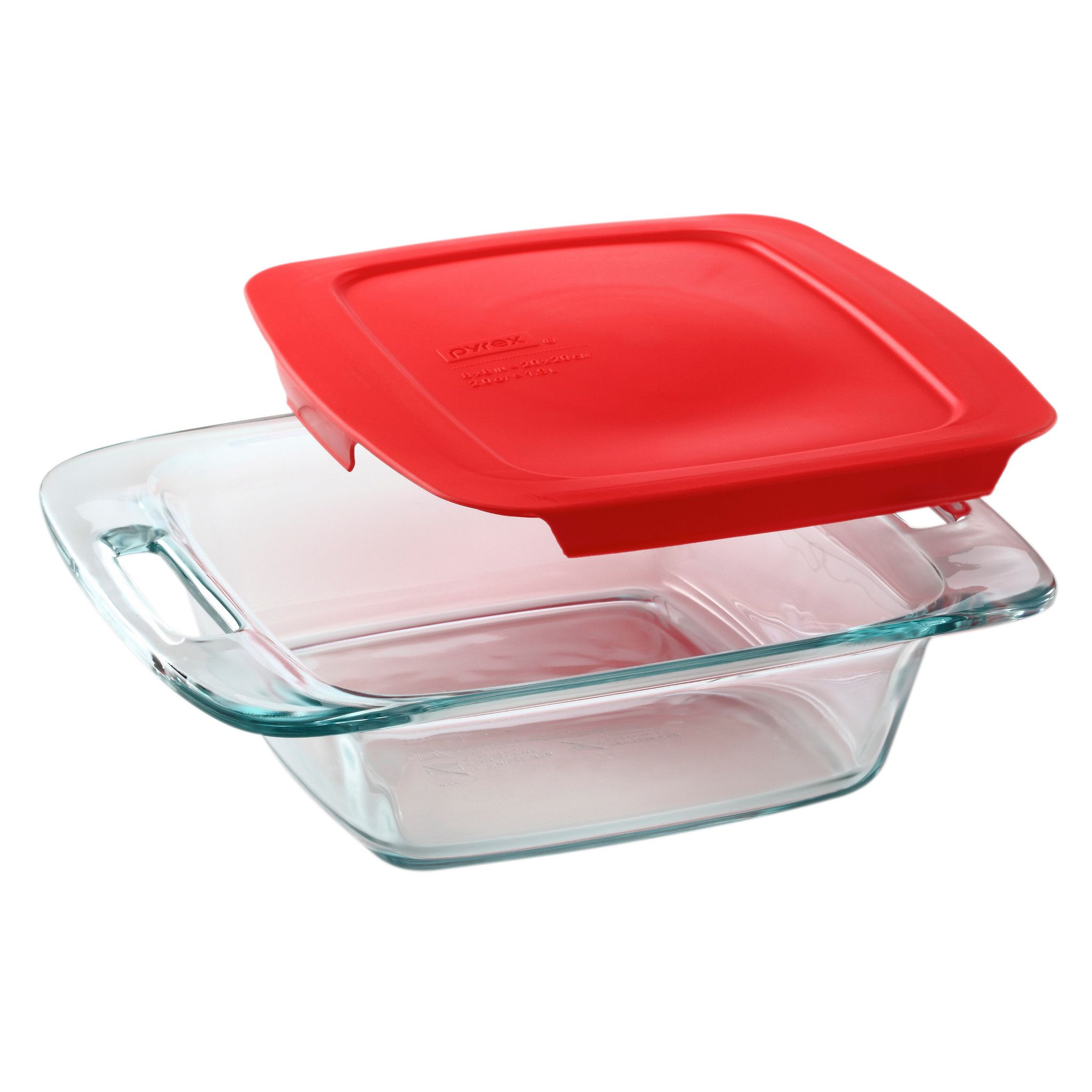 "Pyrex Easy Grab 8"" 2-Quart Square Baking Dish"