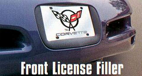 Chevrolet Corvette C3 Black Coated Metal License Plate Frame Holder Baronlfi