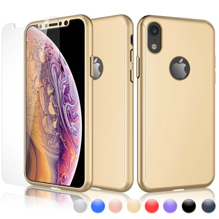 online retailer e03df 45430 iPhone XR Case, Sturdy Case For iPhone XR, iPhone XR Screen Protector,  Njjex Ultra Thin Hard Slim Case Full Protective With Tempered Glass Screen  ...