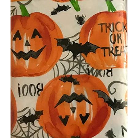 Halloween 100 Peva Polyester Flannel Backing Vinyl Tablecloth 60