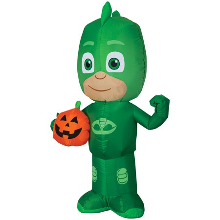PJ Mask Gekko Jack-O-Lantern Airblown Halloween Decoration - Halloween Night Out Ideas