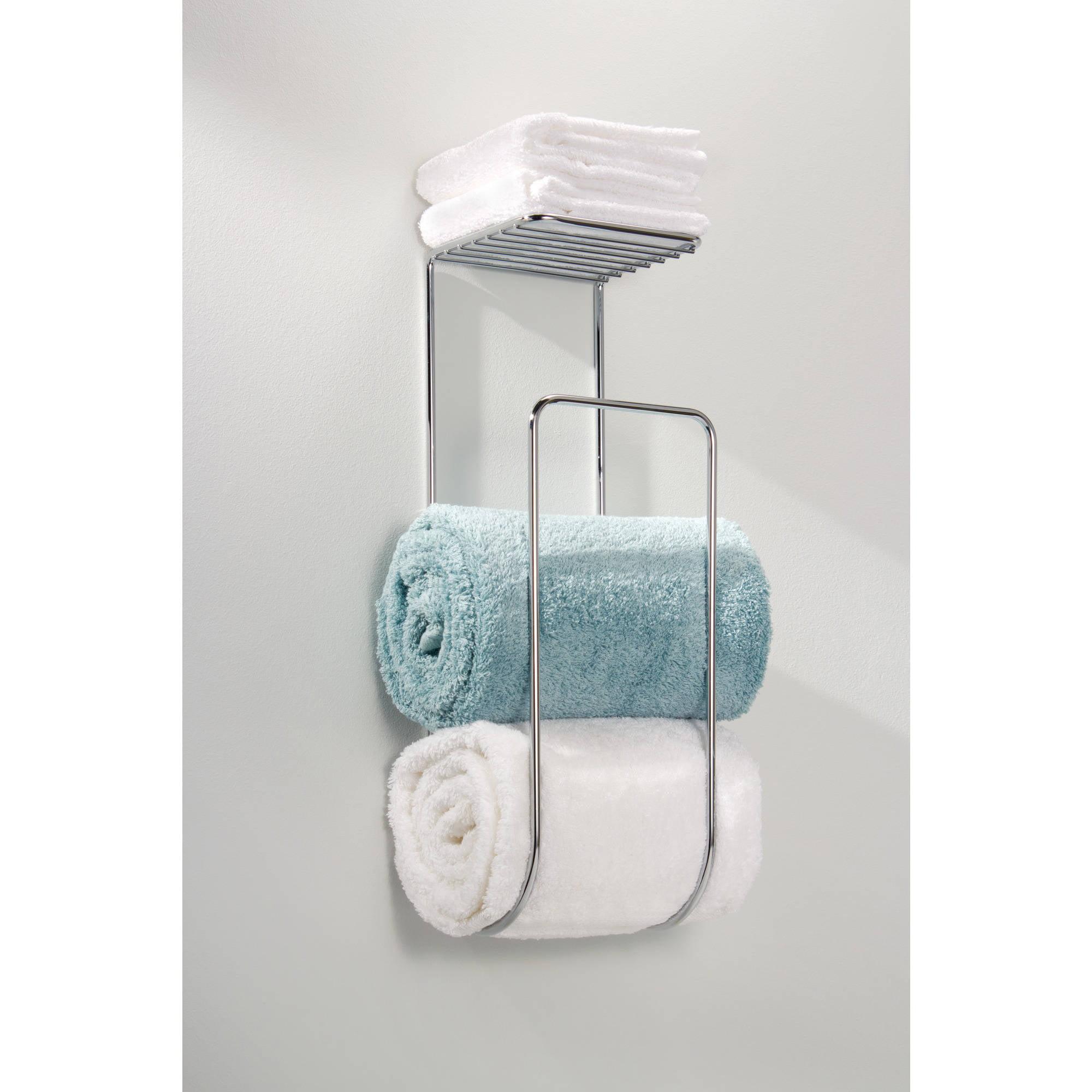 InterDesign Classico Wall Mount Towel Holder, Chrome - Walmart.com
