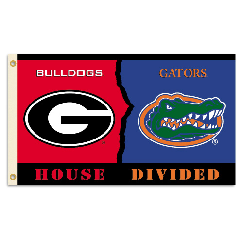 Bsi Products Inc Georgia - Florida Flag with Grommets - Rivalry House Divided Flag with Grommets