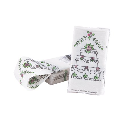 Fun Express - Wedding Cake Swankie Hankie 10pc for Wedding - Party Supplies - Favors - Misc Favors - Wedding - 10 Pieces - Polar Express Party Supplies