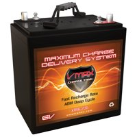 XTR6-235 VMAX 6 Volt 235Ah AGM Deep Cycle Group GC2 Sealed Battery for Campers, Trailer, RV Upgrades Trojan T-105