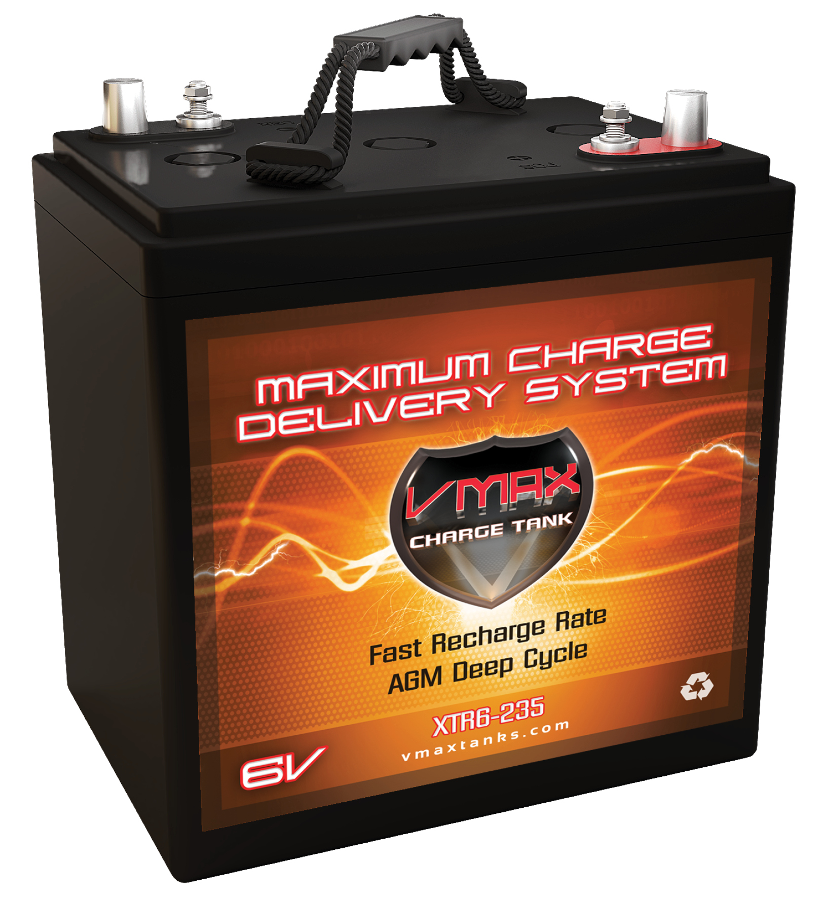 VMAX XTR6-235 6 Volt 235Ah AGM Group GC2 Battery replacem...