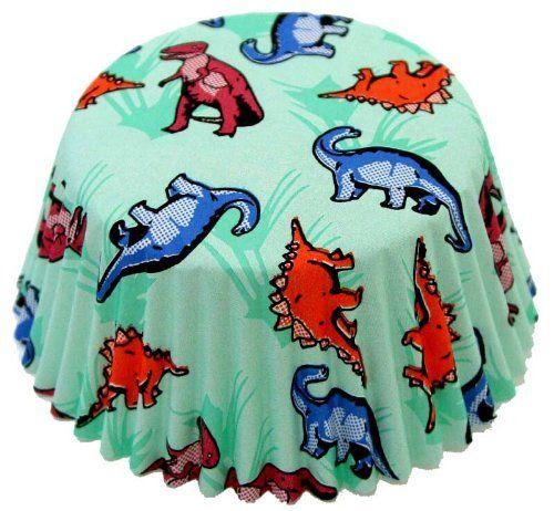 Fox Run 4977 Dinosaur Bake Cups, Standard, 50 Cups