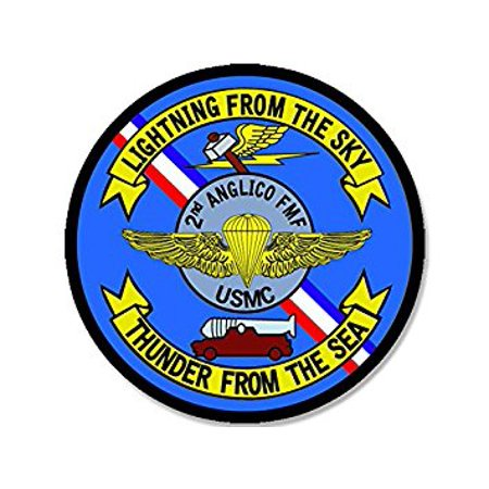 2nd Anglico Seal Sticker Decal (decal logo usmc marine military) Size: 4 x 4