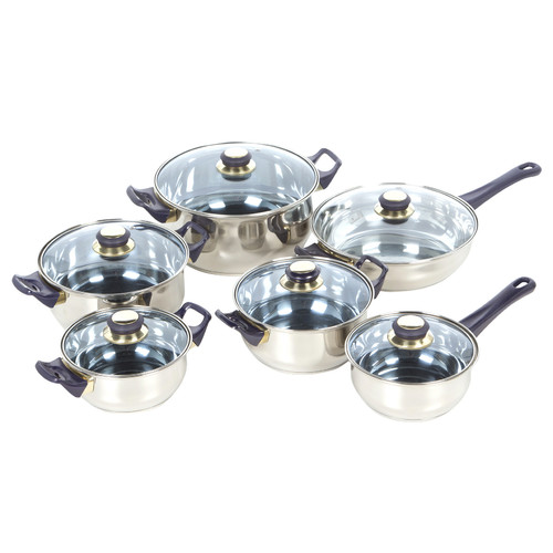Gourmet Chef Gourmet Chef 12 Stainless Steel Piece Cookware Set by Gourmet Chef