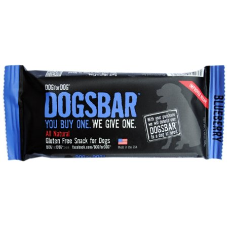 DOG FOR DOG - HEART UNITED DOGSBAR NATURAL BLUEBERRY TREATS USA - 12 BARS/CS