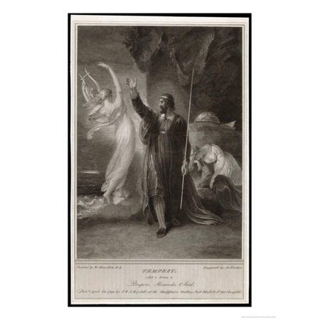 The Tempest, Act I, Scene II: Whilst Miranda Sleeps Prospero Confers with Ariel Print Wall Art By Frederick Burr Opper Ariel Dreams Wall Art