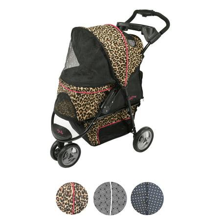 Gen7Pets Promenade Pet Stroller, Cheetah (Pet Stroller Large Dog)