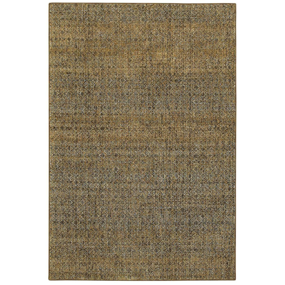 """Atlas 8048P Green and Gold Distressed Area Rug 3'3""""X5'2"""""""