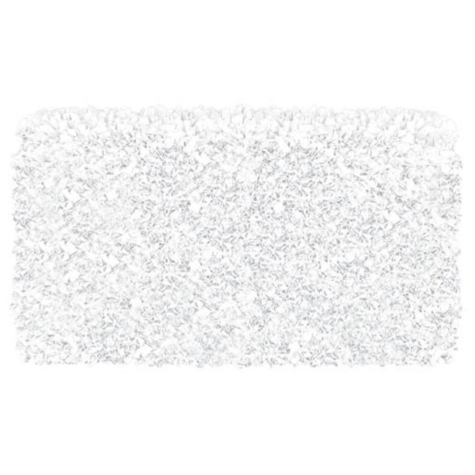 The Rug Market Shaggy Raggy White Area Rug, Size 4.7' x 7.7'