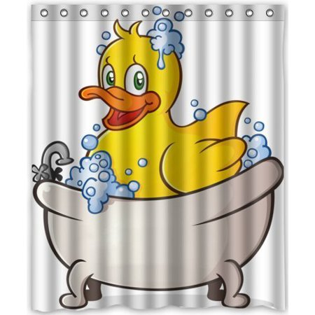Ganma Yellow Duck in Tub by Rubber Duck Shower Curtain Polyester Fabric Bathroom Shower Curtain 60x72 - Shower Duck