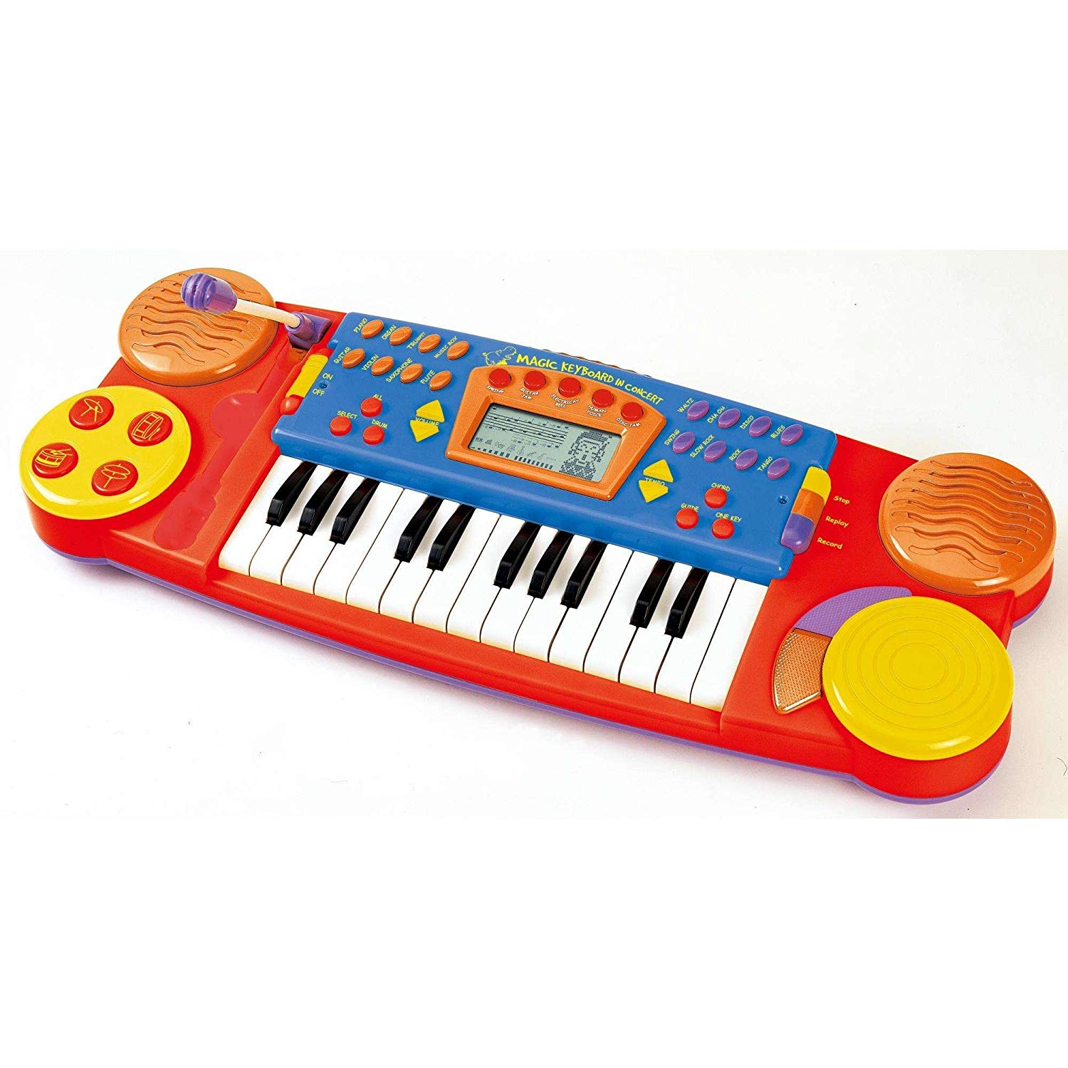 Sing N Play Learning Keyboard, 25 keys electronic keyboard with microphone and stereo sound effects By Little Virtuoso