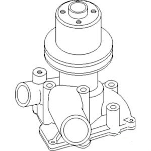 163365AS New White Oliver Tractor Water Pump W/ Pulley 2-78 4-78 1650 1655 (Buick Water Pump Pulley)