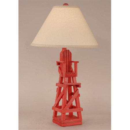 coast lamp 12 b23c lifeguard chair table lamp cottage classic red. Black Bedroom Furniture Sets. Home Design Ideas